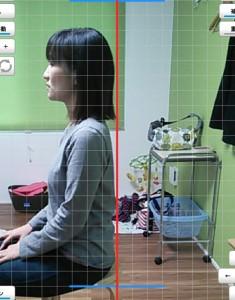 新井恵美さん座位側面施術後